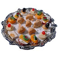 Dollhouse Hors d'oeuvres on a Tray - Product Image