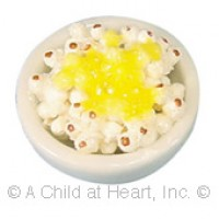 Dollhouse Bowl of Buttered Popcorn - Product Image