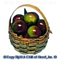 § Sale $2 Off - Dollhouse Basket of Apples - Product Image