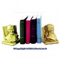 Dollhouse Bookends with Books - Product Image