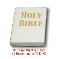§ Disc .60¢ Off - White Bible (Printed Pages) - Product Image