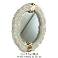 Dollhouse Gold Trim Bathroom Mirror - Product Image