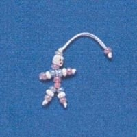 § Disc .40¢ Off - Dollhouse Miniature Clown Bead Doll - Product Image