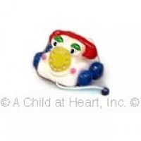 Disc .60¢ Off - Dollhouse Pull Telephone Toy - Product Image