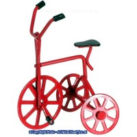 Dollhouse Red Tricycle - Product Image