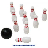 § Sale .20¢ Off - Dollhouse 11 pc Bowling Set - Product Image