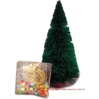(§) Sale $1 Off - Dollhouse Christmas Tree/Trim (Kit) - Product Image