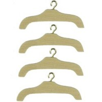 § Sale .30¢ Off - Unfinished Wooden Hangers - Product Image