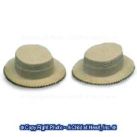 Dollhouse 2 pc Straw Hat Set - Product Image