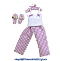 Dollhouse Lady's Pajamas With Slippers - Product Image