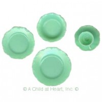 5 pc Jadite Chrysnbon Place Setting - Product Image