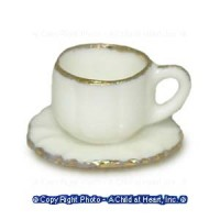 § Sale .50¢ Off - Cup and Saucer - Gold Trim - Product Image