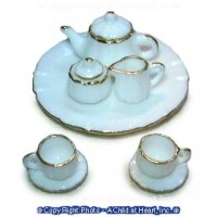 Sale $1 Off - Dollhouse Delicate Tea Set - Product Image