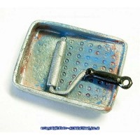 (*) Unfinished Small Paint Roller & Pan - Product Image