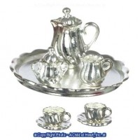 (Reduced) Dollhouse Silver Plated Coffee Set - Product Image