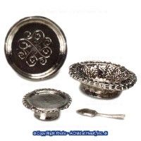 § Sale $3 Off - Cake Stand, Tray & Basket Set - Product Image