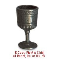Dollhouse Pewter Goblet - Product Image