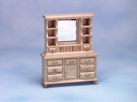 § Disc $3.50 Off - Dollhouse Early American Dresser / Hutch - Product Image
