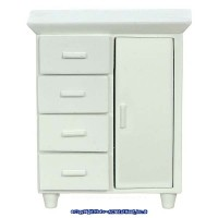 (§) Sale $3 Off - Wht Dollhouse Nursery Wardrobe - Product Image