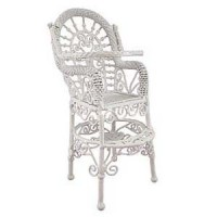 Dollhouse White Wire Highchair - Product Image