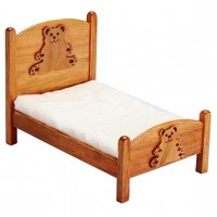 Small Bear Dollhouse Bed - Product Image