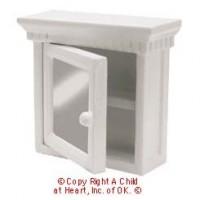 White Dollhouse Medicine Cabinet - Product Image