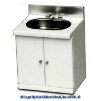 (§) Sale $2 Off - Small White Sink with Stainless Sink - Product Image