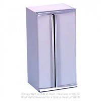 Dollhouse White Side by Side Refrigerator - Product Image