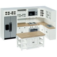 Dollhouse White Up to Date Modern Kitchen - Product Image