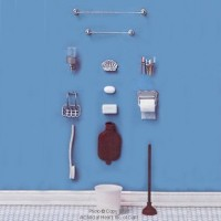 § Sale .60¢ Off - Dollhouse Bathroom Items (Kit) - Product Image