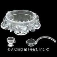 Dollhouse Punch Bowl Set (Polystyrene) by Chrysnbon - Product Image