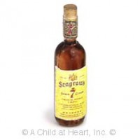 § Disc .50¢ Off - Dollhouse Seagrams 7 Blended Whiskey Bottle - Product Image