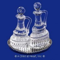 Dollhouse Oil & Vinegar Cruets Set - Product Image