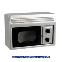 (§) Sale $1 Off - Silver Opening Microwave - Product Image