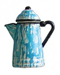 Assorted Dollhouse Decorated Coffee Pots - Product Image