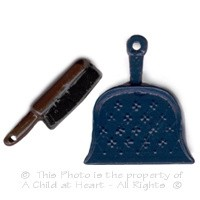 § Sale .60¢ Off - Dollhouse Dustpan & Brush - Product Image