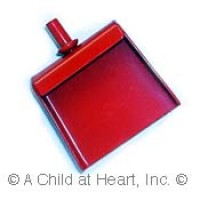 § Sale .20¢ Off - Dollhouse Red Dustpan & Broom - Product Image