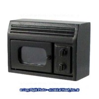 Dollhouse Opening Microwave - Black - Product Image