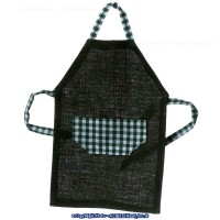 Dollhouse Miniatures Man's Long Apron - Product Image