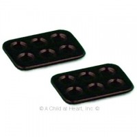 § Sale .30¢ Off - Dollhouse 2 pc Black Muffin Pans - Product Image