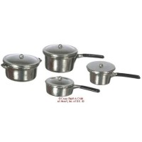 Dollhouse 4 pc Cookware Set w/Lids - Product Image