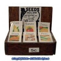 (§) Sale .60¢ Off - Vintage Seed Packets Display - Product Image