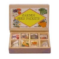 (*) Dollhouse Vintage Store Seed Packets Display - Product Image