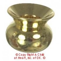 § Sale $2 Off - Dollhouse Brass Spittoon - Product Image