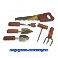 Dollhouse 6 pc Wood Handle Hand Tool - Product Image
