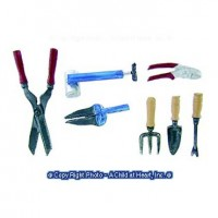 7 pc Dollhouse Garden Tools - Product Image