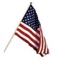 § Sale .60¢ Off - Dollhouse American Flag (Kit) - Product Image