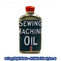 Dollhouse Miniature Sewing Machine Oil Can - Product Image
