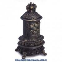 Dollhouse Porcelain Parlor Stove - Large - Product Image