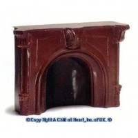 Dollhouse Brown or Ivory Fireplace Resin - Product Image